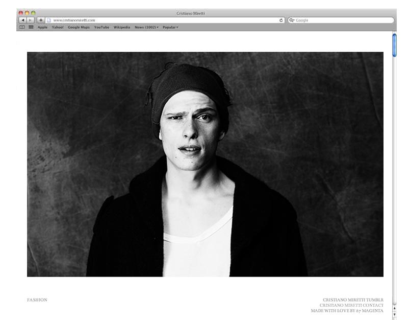 Cristiano Miretti - Sito Web - Homepage