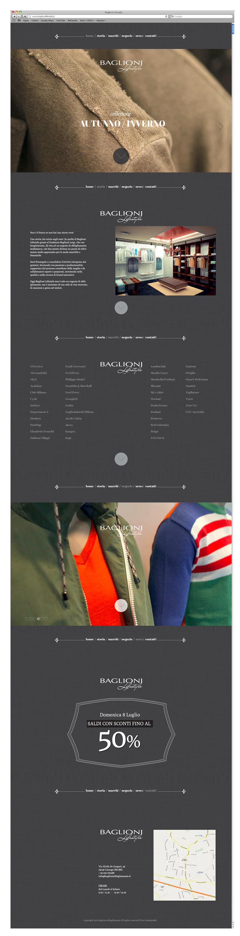 Baglioni Lifestyle - Web site
