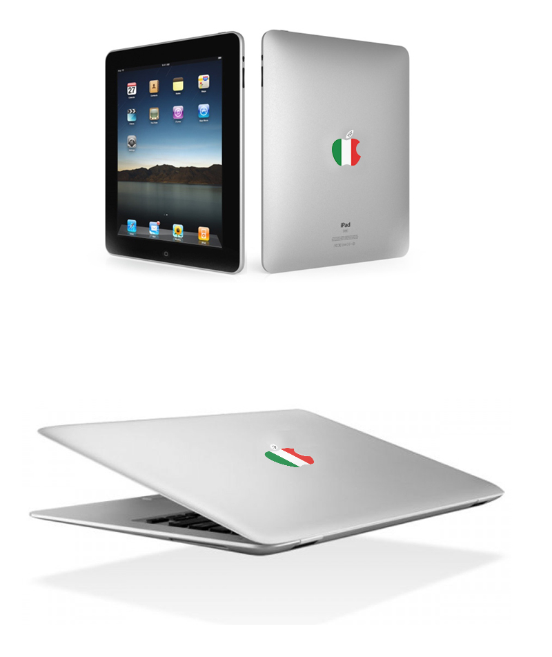 Sticker Macbook e iPad per 150° Italia